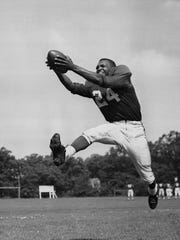 Penn State's Wally Triplett became the first black player drafted into and play in the NFL.