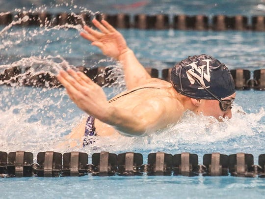 West York's Courtney Harnish swims in the girls' 100-yard