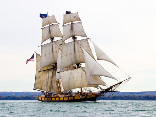 The US Brig Niagara, a replica of a War of 1812 ship, was among a dozen tall ships that took part in the 2016 festival.