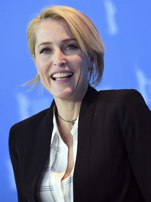 Actress Gillian Anderson, here in Berlin in February, has co-written the new book, 'We.'