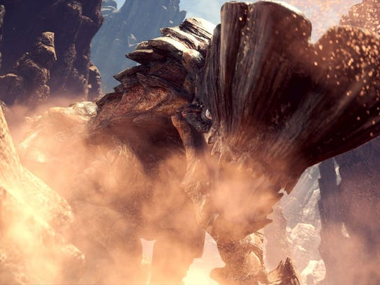 Each monster, like the armored Barroth, is well-suited to its environment.