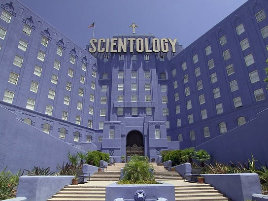 The Church of Scientology building in Hollywood, shown