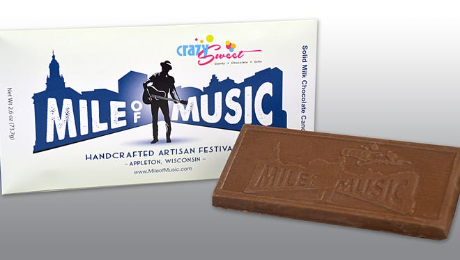 Mile of Music chocolate bars are $3.99 each.