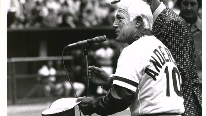 Sparky Anderson during Opening Day in 1978.