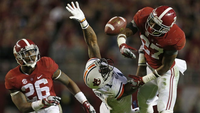 Alabama senior safety Nick Perry of Prattville is fourth on the team in tackles with 74 stops.
