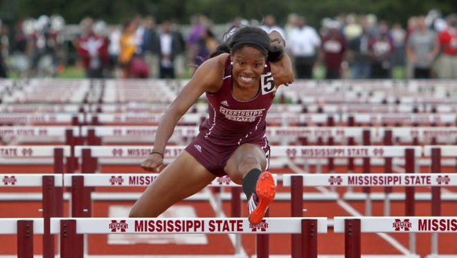 Mississippi State junior Erica Bougard finished fourth in the heptathlon at nationals.