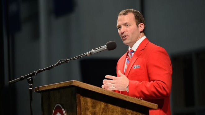 Ole Miss athletic director Ross Bjork was named the university's vice chancellor intercollegiate athletics on Thursday.