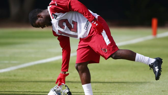 Arizona Cardinals wide receiver John Brown (12) during OTAs on Tuesday, May 16, 2017 at the Arizona Cardinals Training Facility in Tempe, Ariz.