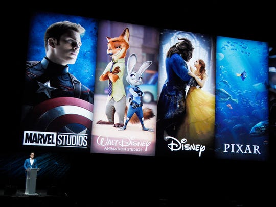 Disney executive Dave Hollis speaks to the CinemaCon