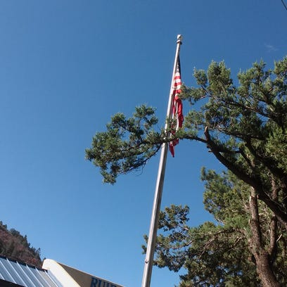 Veterans Day flag-raising ceremony and lunch buffet held at the Ruidoso Community Center