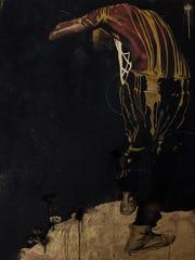 """Artist Fahamu Pecou's """"Night Catches Us,"""" mixed media"""