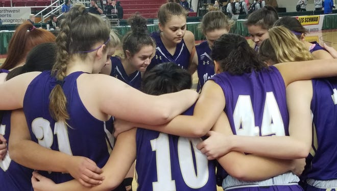 North Kitsap's girls basketball team beat Burlington-Edison 50-47 in the first round of the Class 2A state tournament on Wednesday at the Yakima Valley SunDome.