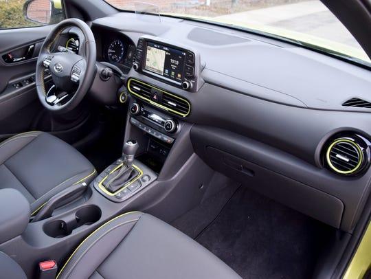 Hyundai Kona passenger seat.