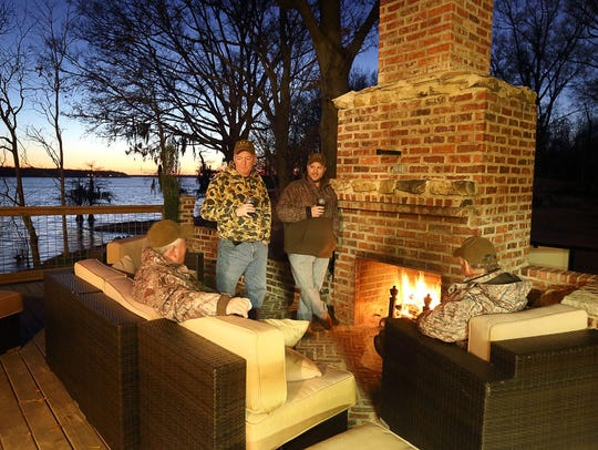 Hunters gather at one of the many relaxing spots at