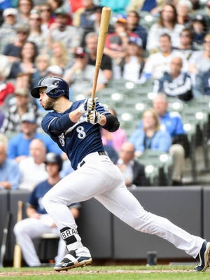 Rayn Braun hit the 10-year mark since making his debut with the Brewers on Thursday.