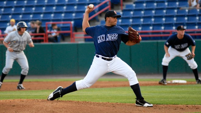 Hiram Burgos is back with the Brevard County Manatees and is scheduled to start the season opener Thursday night in Daytona.