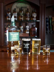 "Tullamore D.E.W. Irish Whiskey and beer at O'Riley's Irish Pub in Pensacola on Monday, February 6, 2017.  O'Riley's will be participating in the upcoming ""St. Practice Day"" and Tullamore D.E.W. pub crawl in downtown Pensacola."