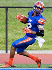 Rob Rideout, seen here in a file photo, is one of several standout skill position players for the York High football team. DISPATCH FILE PHOTO