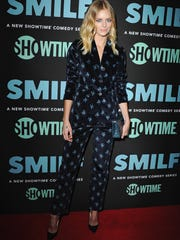 """Actress Samara Weaving arrives at the Los Angeles Premiere """"SMILF"""" at Harmony Gold Theater on October 9, 2017."""