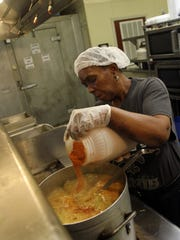 "Ronnie Brown, aka ""The Gumbo Lady,"" adds seasoning"