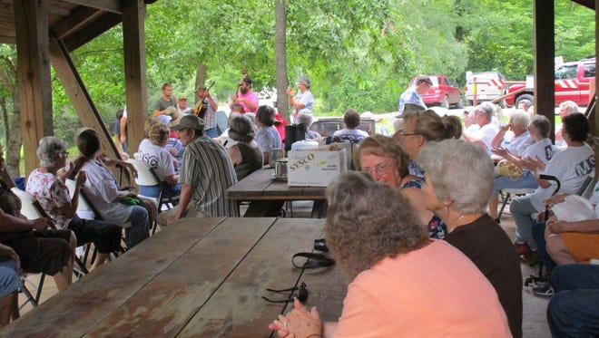 Seniors from across Madison County gathered at Murray Branch in Hot Springs for a summer picnic.