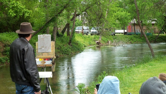 Artists participate in last year's White River Artists annual Plein Air on the White River.