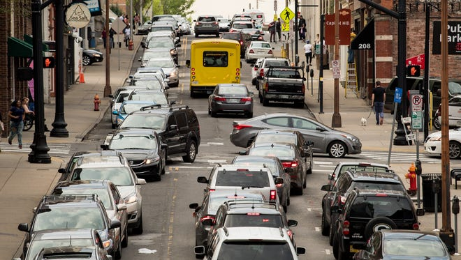 Expect heavy traffic in downtown Nashville on Thursday evening.