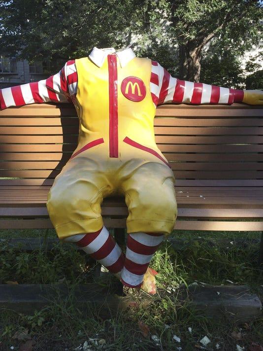 Ronald McDonald Statue-Vandalism