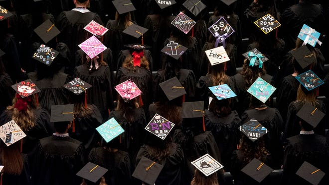 Commencement ceremony May 1, 2015, at The University of Texas-Tyler.