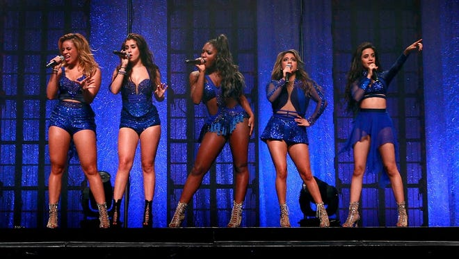 Fifth Harmony perform during their Reflection Summer Tour at Comerica Theatre in Phoenix on Friday, August 7, 2015.
