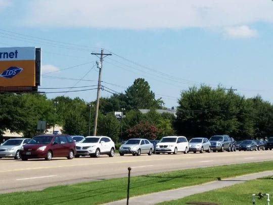Traffic on Kingston Pike is bumper to bumper in Farragut