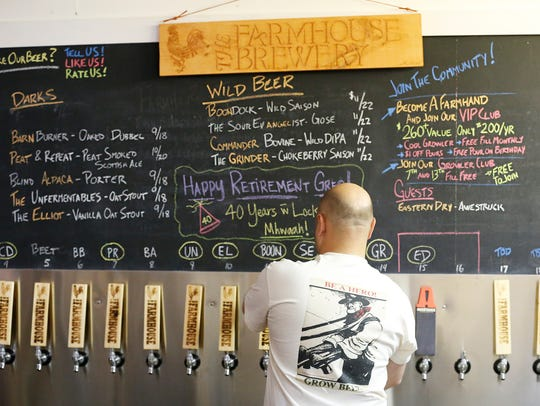 At Farmhouse Brewery, there are always four gluten free drinks on tap. Both nonalcoholic and alcoholic beverages are crafted by Marty Mattrazzo. (2016 file photo)