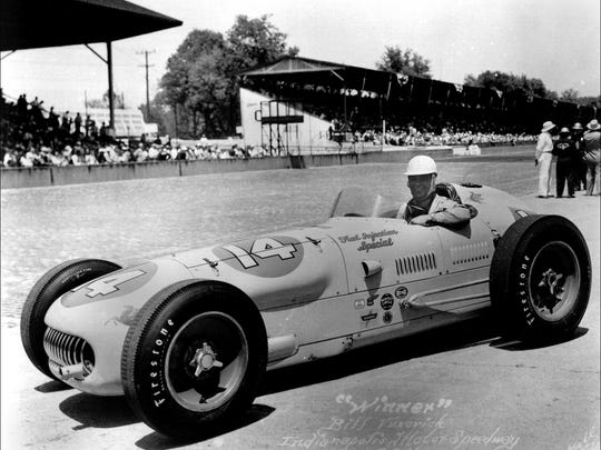 Russ Van Treese was a big fan of Bill Vukovich, who won the race in 1953 and '54. In '55, Vukovich was leading after 56 laps when he crashed and died from a skull fracture.