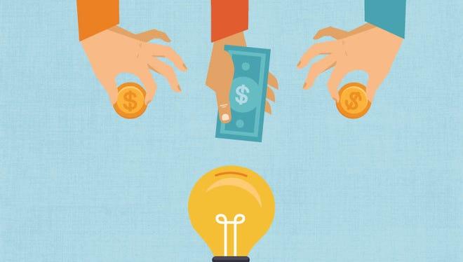 Crowdfunding illustration.