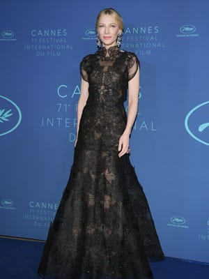 Jury president Cate Blanchett arrives at the 71st annual Cannes Film Festival.