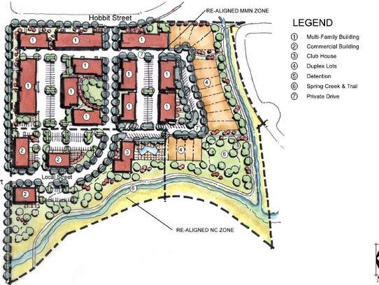 This is the site plan for a Blue Ocean Enterprises