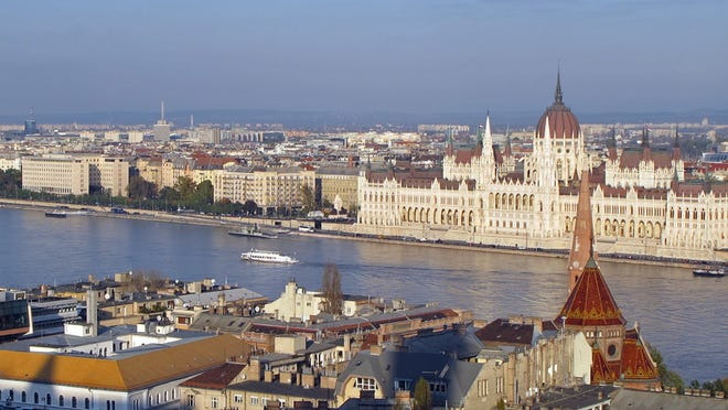 Some of the most beautiful buildings in Budapest, including the Parliament, are on the Danube River shoreline.