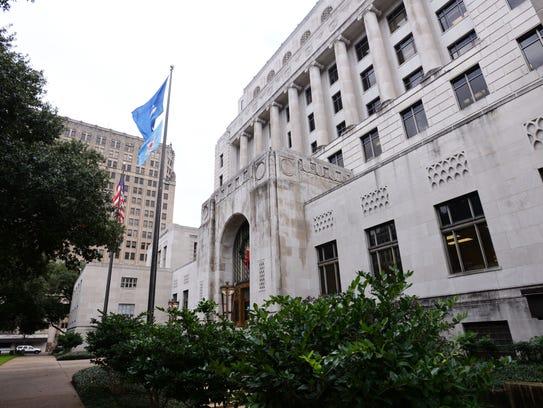 The Caddo Parish Courthouse.