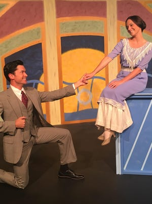 """Adam Estes plays gadfly Edward Sherry and Kaleigh Rae Gamaché is Yvonne in the Third Avenue Playhouse production of """"Madame Sherry,"""" playing from July 28 to Sept. 3."""