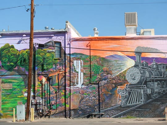 Colors of Our Past, a mural in downtown Alamogordo, was completed by local artists Justin and Angie Nowell in October.