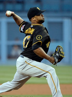 Francisco Liriano scattered five hits in five-plus innings for his first win of the year.