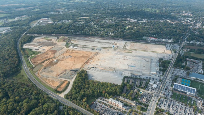 Aerial photos shows the STAR campus in 2012. The University of Delaware's decision to halt a deal for a data center to be built at the site was another high-profile loss for Gov. Jack Markell, who has pushed for more job creation projects in the state.  South Campus, Main Campus, Laird Campus, Main Street, Newark Reservoir, and the City of Newark. Photographed on October 6th, 2012.