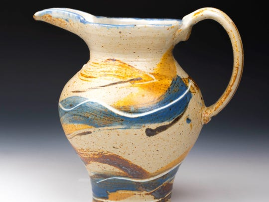 Clay pitcher by John Dietrich of Ellison Bay Pottery,