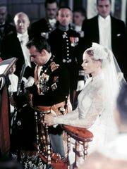 A photo taken on April 19, 1956 shows actress Grace