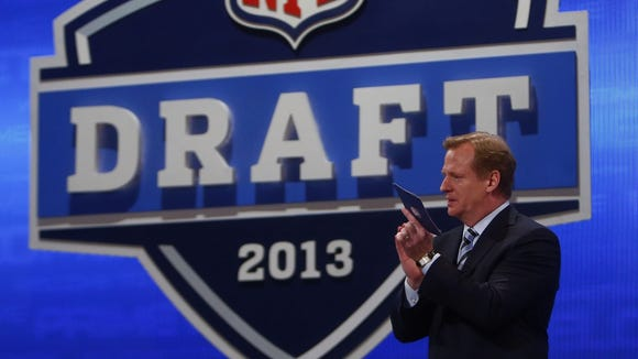 Roger Goodell will announce the picks in the first round of the NFL Draft tonight in New York.