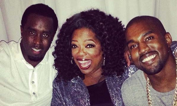 Happy trio of partiers, from left: Diddy, Oprah, Kanye. No need for any last names.
