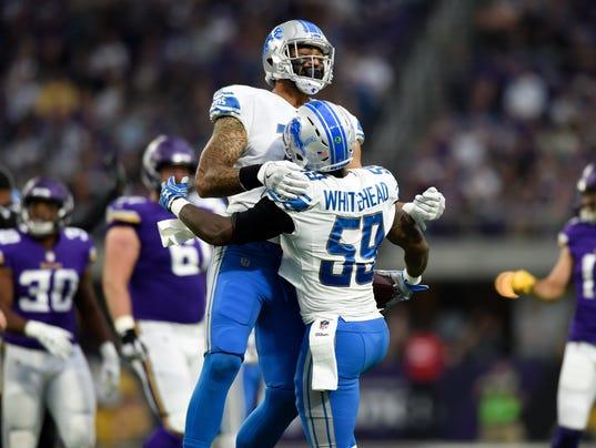 Detroit Lions at Minnesota Vikings, lions defense