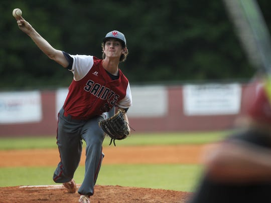Wakulla Christian senior Jacob Dismuke, a Chipola College signee, pitches against Munroe.