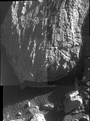 This rock formation, named Mesilla, was recently discovered by NASA rover Opportunity.