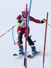 Jessica Polvino competes in the Section 1 skiing championships